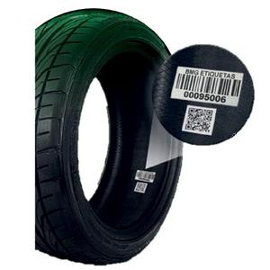 Etiquetas vulcanizáveis para pneus